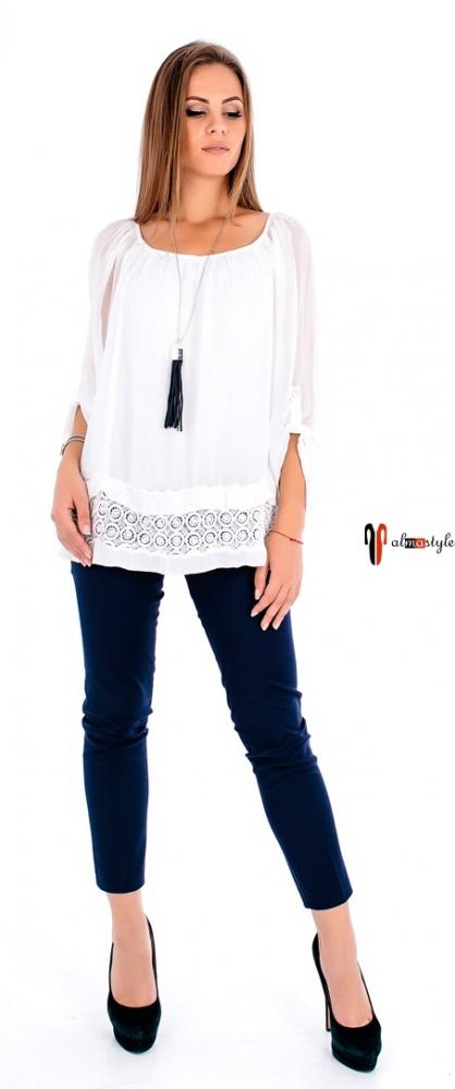 Блуза белая, стильная, шелковая