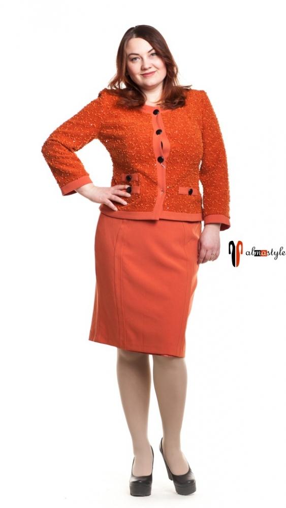 Костюм классический, жакет шанель, юбка карандаш