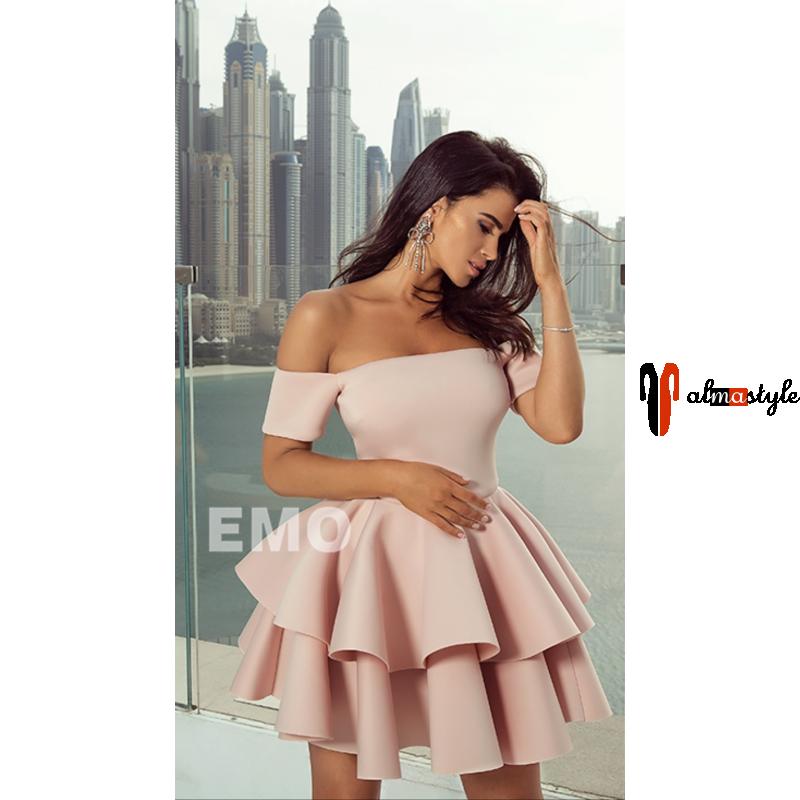 Платье пышное розовое, пудра