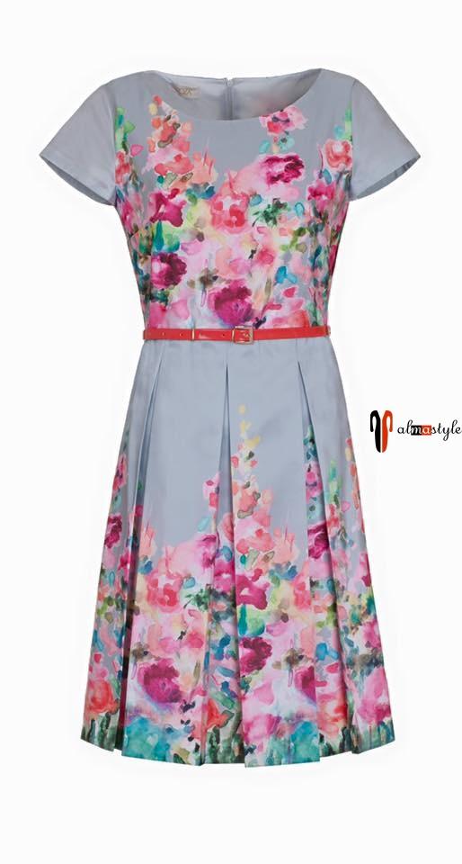 Платье летнее, под пояс