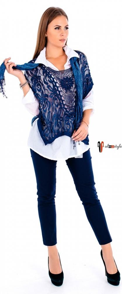 Джемпер, свитер, с рубашкой, теплая туника, тройка