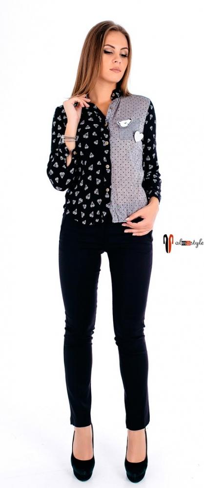 Теплая стильная рубашка с длинным рукавом