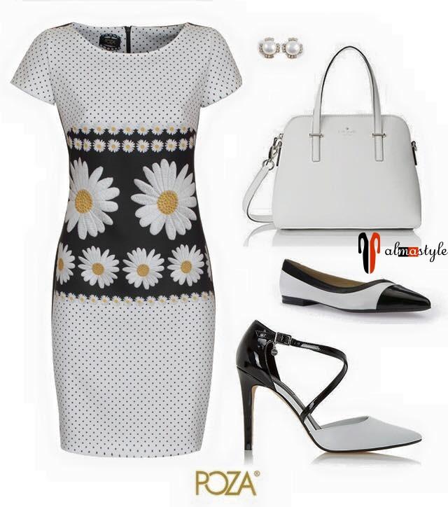 Белое летнее платье с принтом ромашки