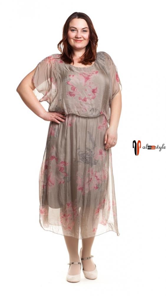 Платье летнее, длинное, шелк