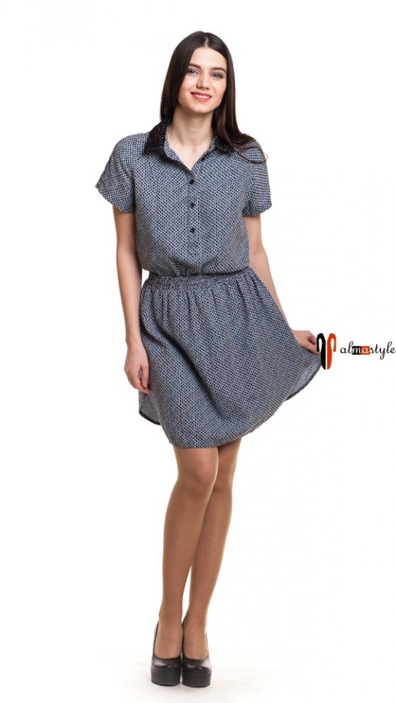 Платье легкое, с заниженной талией, летнее, разрезы по бокам, короткое