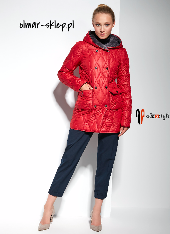 Куртка красная, зимняя, на подстежке