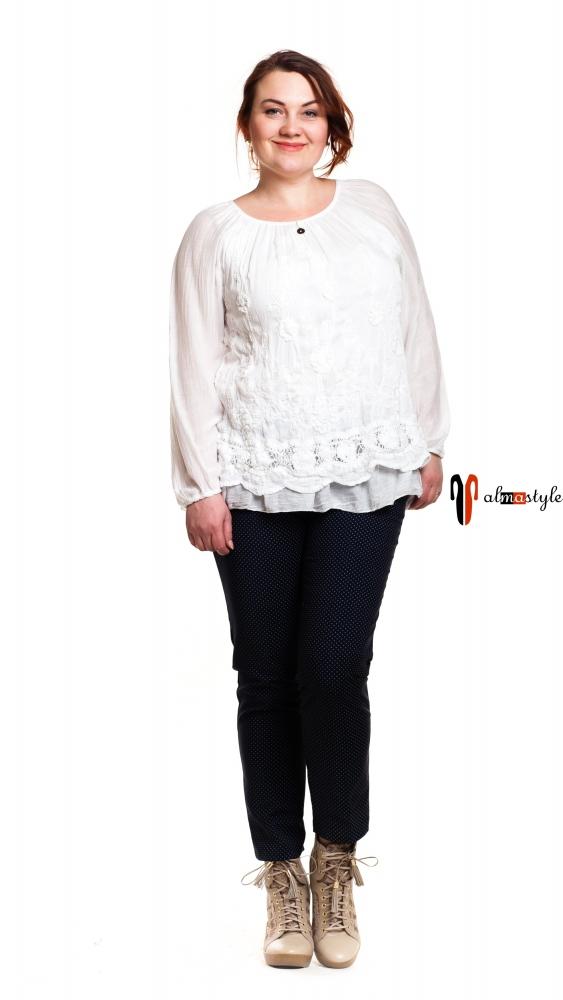 Блузка шелковая, белая