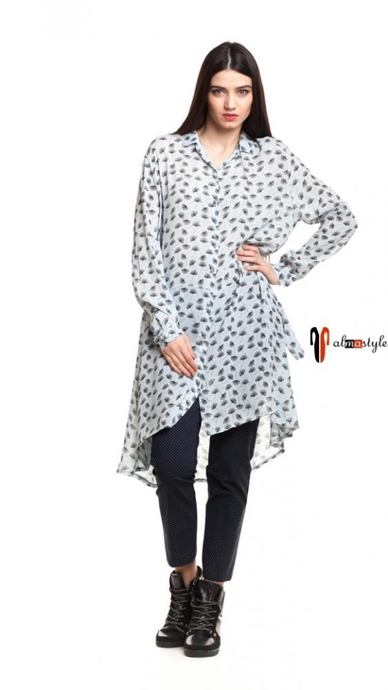 Длинная женская рубашка-туника