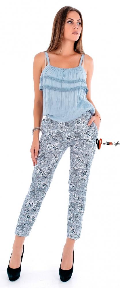 Тонкие летние брюки из натуральной ткани