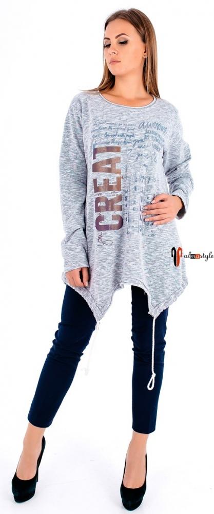 Туника с ассиметричным низом, свитер, джемпер