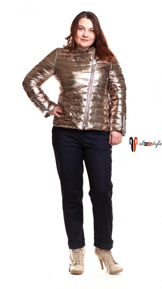 Демисезонная куртка косуха, золотистая