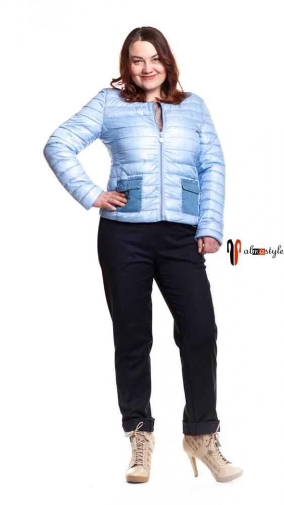 Куртка голубая, с накладными карманами, джинс