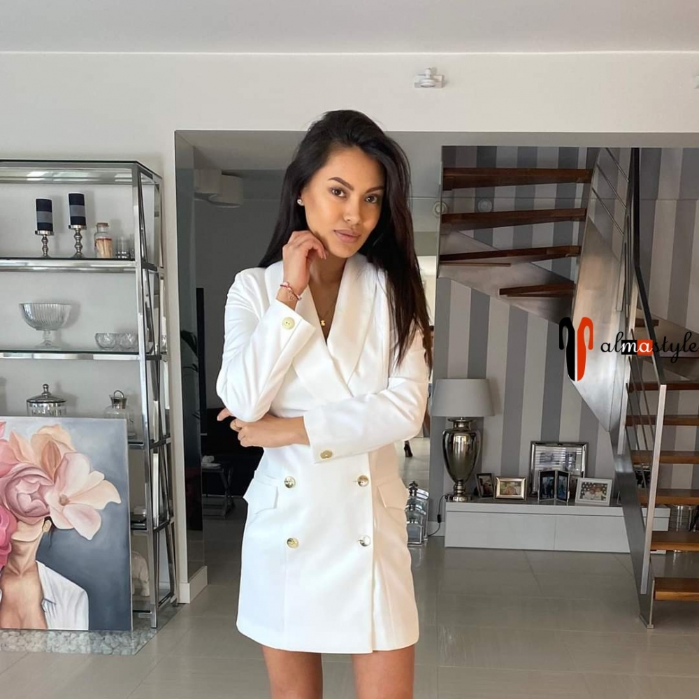 Платье жакет белый