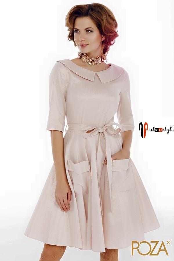 Платье клешеное, короткое