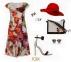 Стильное легкое платье с цветочным принтом 0