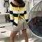 Джемпер в желтую полоску 0