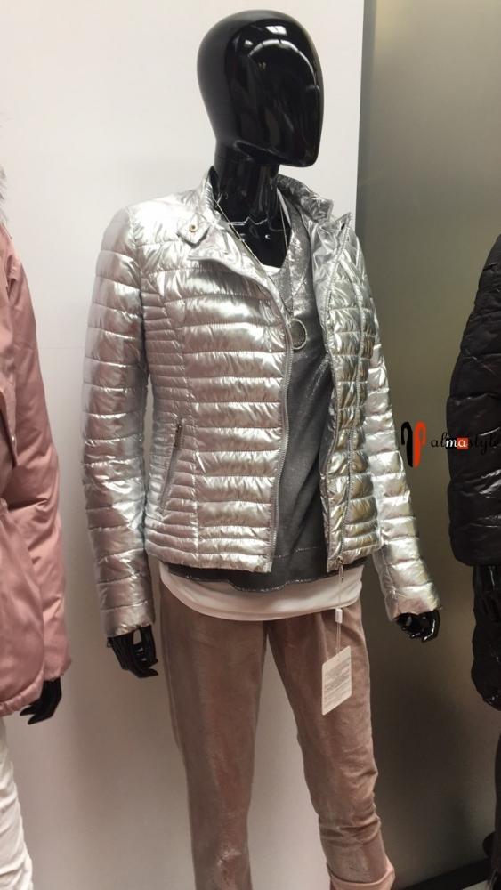 Куртка косуха, серебряного цвета