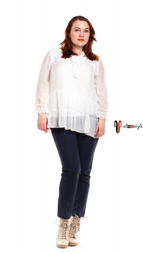 Блузка белая шелк