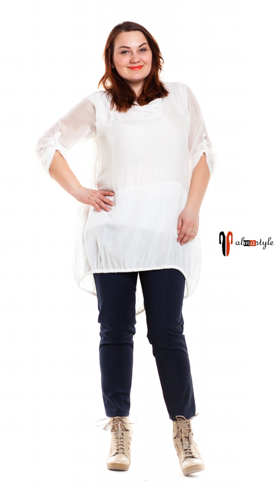 Блуза туника белая