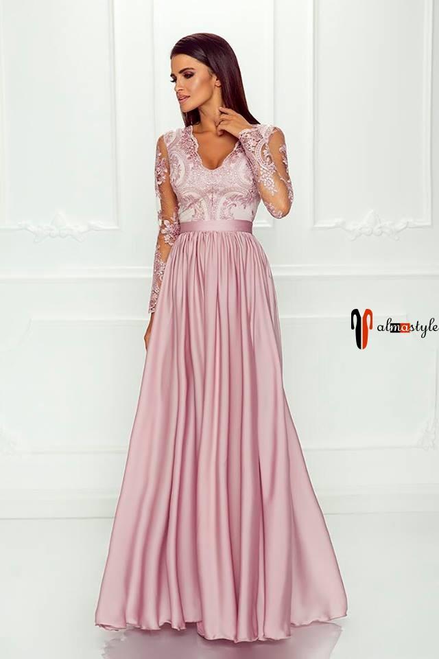 Розовое пплатье, макси