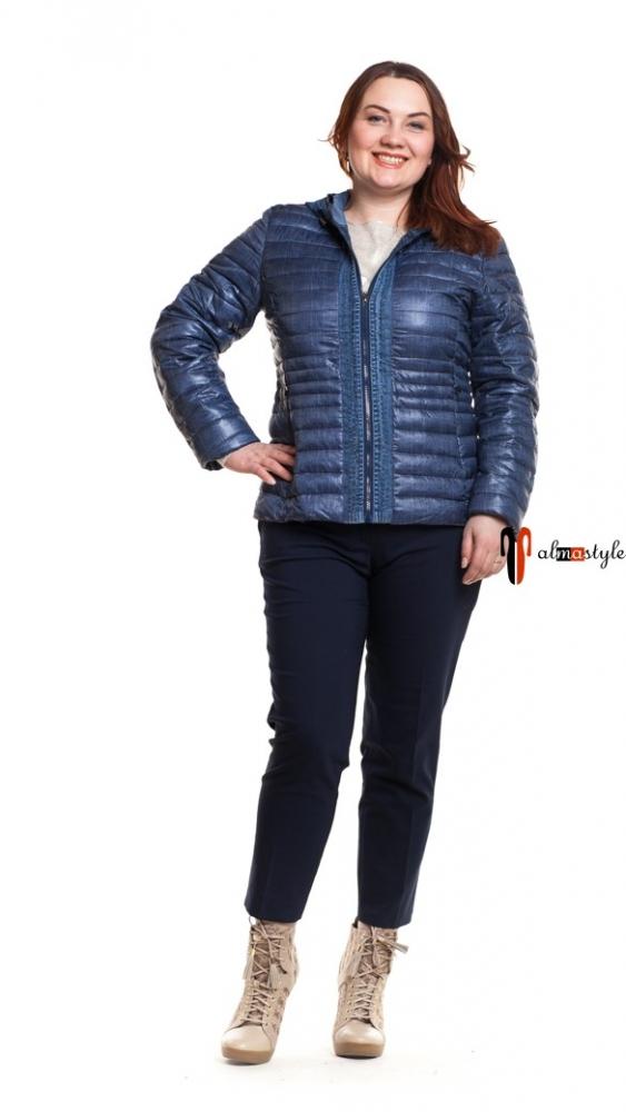 Куртка синяя, с капюшоном
