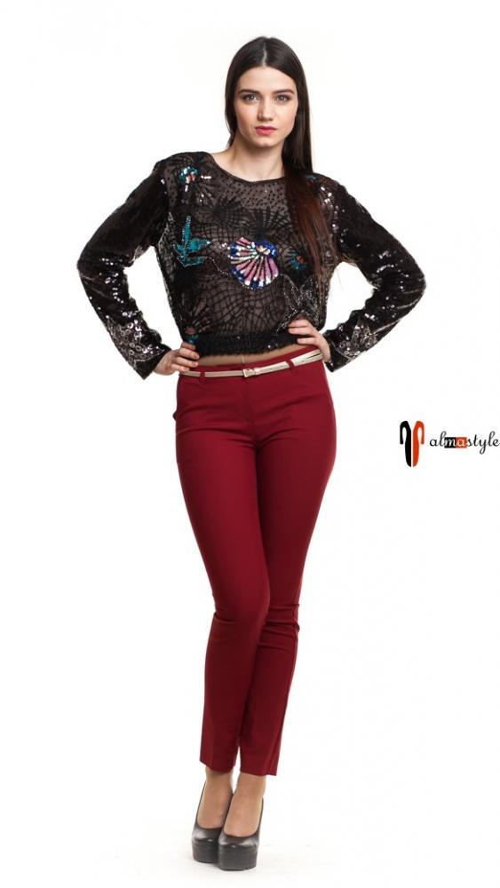 Длинные брюки чинос терракотового цвета со средней посадкой