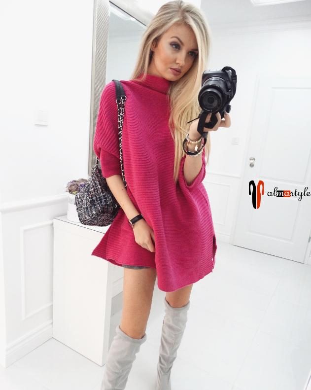 Свитер-туника-платье с рукавом ⅞