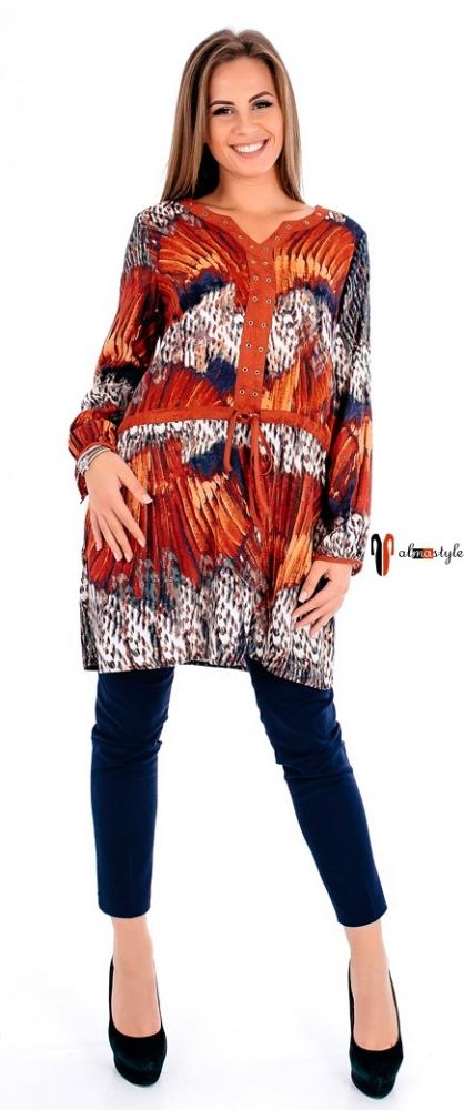 Туника, на резинке, платье туника