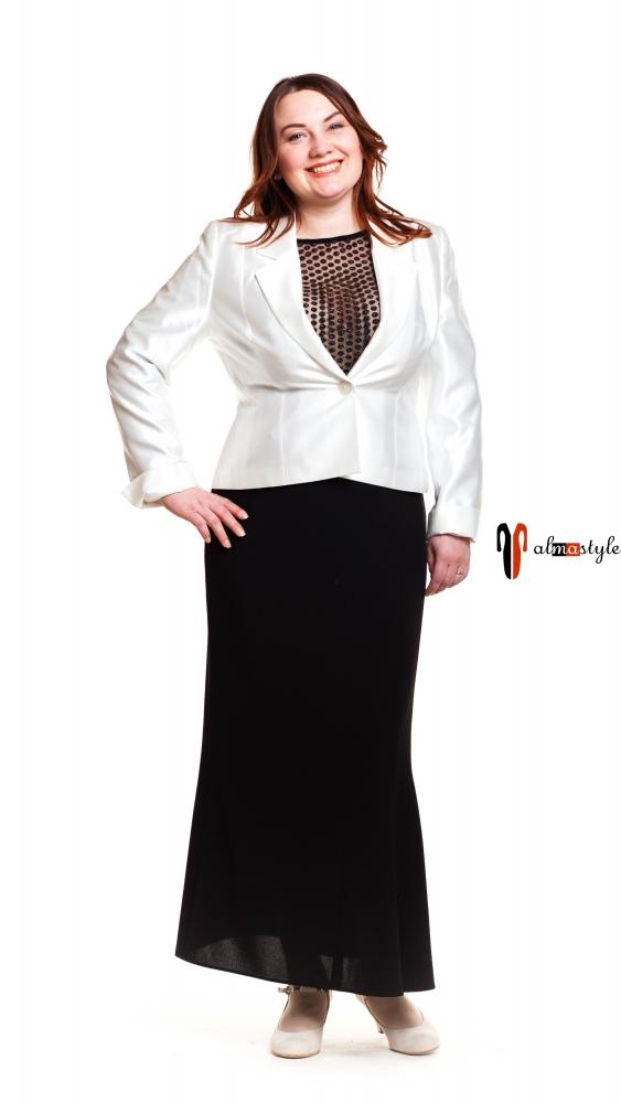 Костюм с юбкой, юбка длинная, миди,большие размеры