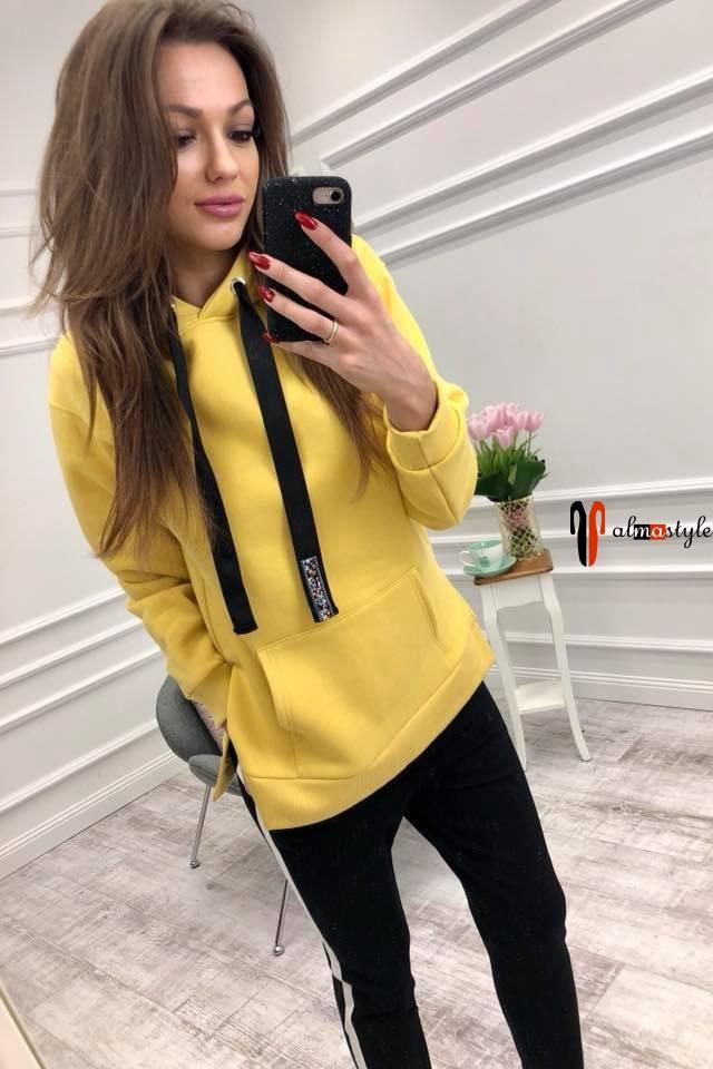 Спортивная кофта женская, желтая