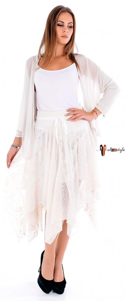 Пышная юбка -солнце  из клиньев с асимметричным низом